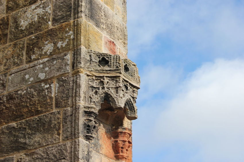 Ancient Ancient Civilization Architecture Building Exterior Built Structure City Close-up Cultures Day Edinburgh History Low Angle View No People Outdoors Religion Rosslyn Chapel Scotland Sky Travel Travel Destinations