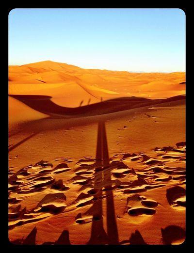 Desert Sunrise Shadows Desert Shadows Morning Light Travel Photography Amazing View Sahara Desert Sahara Morocco IPhoneography