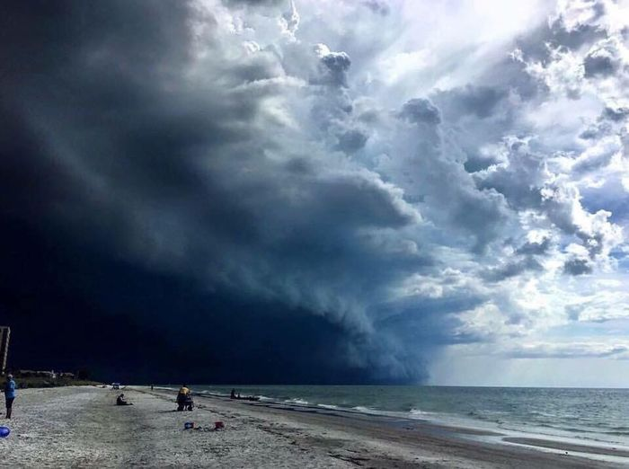 Check This Out Beauty In Nature Tranquility Beach St Pete Beach Florida Dramatic Sky Not Mine But I Love It Anyway Awesome Photo Storm Cloud Water No Filter Needed