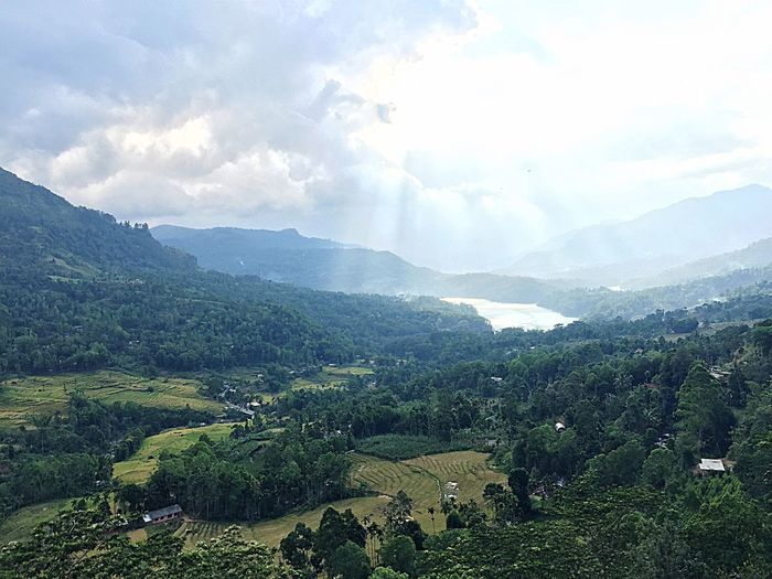 Nature always wears the colors of the spirit! Nature Beauty In Nature Scenics Cloud - Sky Idyllic Tranquil Scene Landscape Outdoors Mountain Sky Check This Out Packyourthingsandtravel Freshness Abundance Sri Lanka 🇱🇰 The Week On Eyem EyeEm Nature Lover Tourist Attraction  Tourism