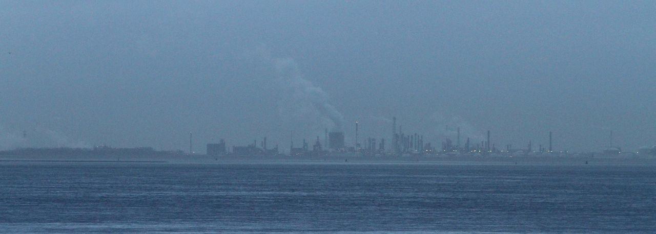 Distant Industrie Water Sky Distance