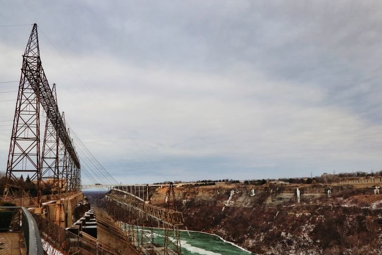 Water Bridge - Man Made Structure Hydroelectric Power Niagara Falls Canada Tree Sky Landscape Cloud - Sky Snowcapped Humanity Meets Technology 17.62°