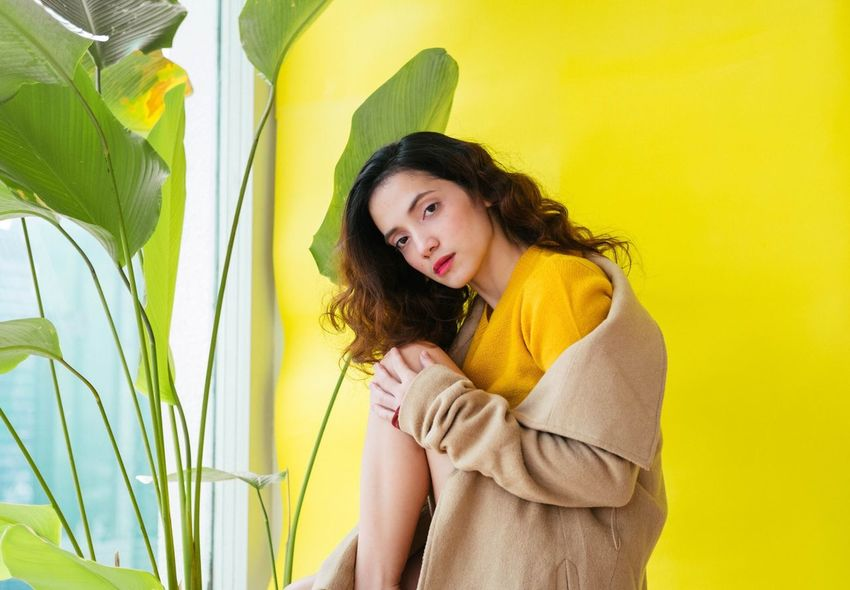 Yellow screen Life - Clarity One Person Yellow Beautiful Woman Beautiful People Beauty Young Adult One Woman Only Portrait Only Women EyeEm Ready