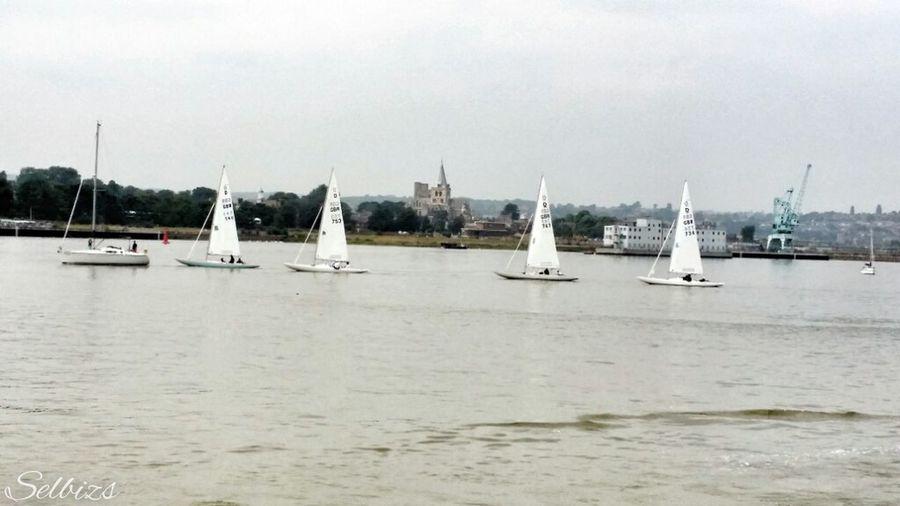 Taking Photos Riverside Waterfront River Medway