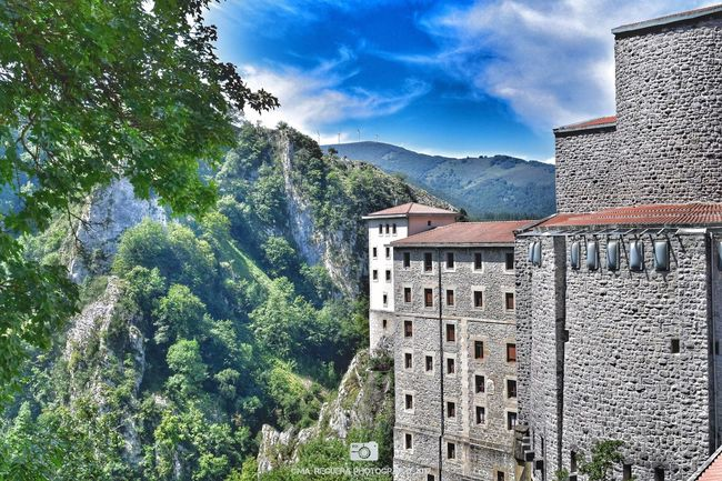 Monastery of Aranzazu Architecture Mountain Built Structure Building Exterior Tree Day Mountain Range Outdoors Nature Travel Destinations Scenics Sky Beauty In Nature Landscape Monastery Aranzazu Oñati Vasque Country Forest Clouds