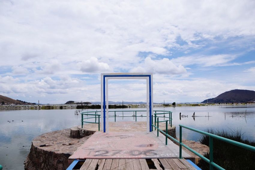 Gate Heaven Lake Peace Dream Dreaming LakeTiticaca Puno Peru Southamerica
