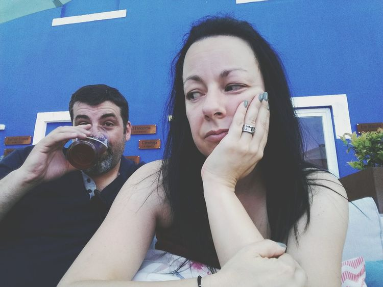 😎 Drinking Beer Couple Young Women Young Adult Two People Headshot Leisure Activity Adults Only Women Lifestyles Adult Friendship Human Body Part Human Hand This Is Masculinity