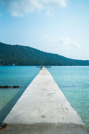 Gotta leave at some point Water Sea No People Nature Blue Scenics Beach Landscape Sky Outdoors Day Beauty In Nature Tree Pier Nautical ASIA Tropical Showcase: April Vacations Cambodia Travel Photography Full Length Front View Nature Horizon Over Water The Great Outdoors - 2017 EyeEm Awards