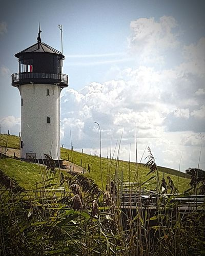 Lighthouse Protection Sky Building Exterior Cloud - Sky Day Sea Business Finance And Industry Agriculture Outdoors Water No People Architecture Nautical Equipment Nature Cuxhaven Sarah7790 Northsea Nordsee Sonne Leuchtturm Dicke Berta Altenbruch Urlaub