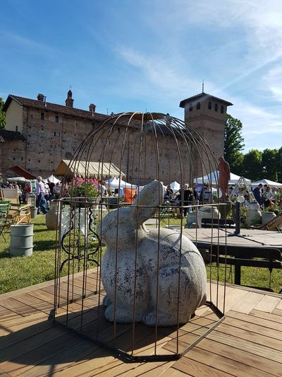 Outdoors Sky Built Structure Architecture Day No People Langhe Piedmont Italy Ancient Italian Castle Travel Destinations Building Exterior History Architecture Italian Garden Sculpture
