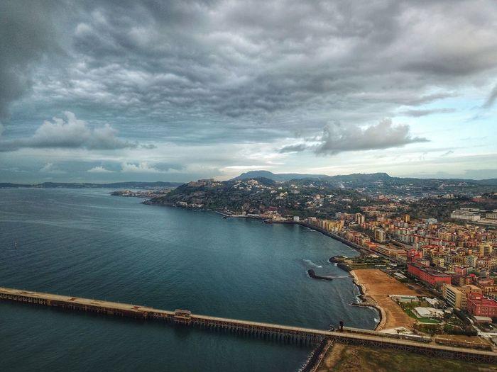 Naples, Pozzuoli Via Napoli - Pontile di Bagnoli Architecture Cloud - Sky City Cityscape Connection High Angle View Built Structure