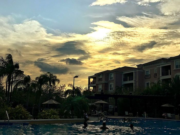 Water Cloud - Sky Swimming Pool Palm Tree Sunset Architecture Outdoors Travel Destinations Orlando Florida