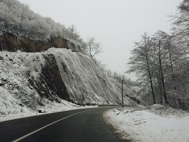 Cold Cold Temperature Covered Covering Day From My Point Of View Frozen Nature Nature No People Outdoors Remote Road Road Roadtrip Season  Snow The Way Forward Weather White Winter Landscapes With WhiteWall
