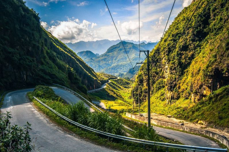 Roadtrip - North Vietnam Vietnam Mountain Sky Beauty In Nature Nature Plant Cloud - Sky Mountain Range No People Transportation Sunlight Environment Scenics - Nature Tranquil Scene Day Road Tree Tranquility Landscape Green Color Outdoors My Best Photo