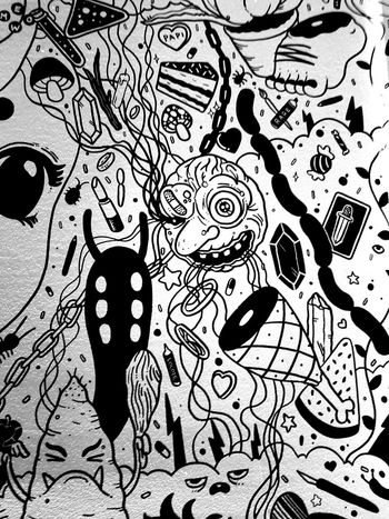 Sharpie Art Meow Wolf Santa Fe New Mexico House Of Eternal Return Art Black And White Photography