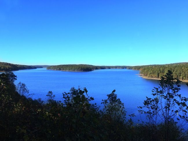 Lake view on a beautiful day Blue Tranquil Scene Clear Sky Water Tranquility Nature Scenics Lake Beauty In Nature Copy Space No People Outdoors Day Tree Landscape Sky Nature Nature_collection Nature Photography