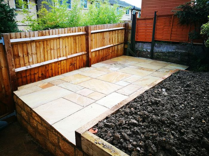 Outdoors Day No People Built Structure Architecture Patio Landscaping Indian Sandstone Paving