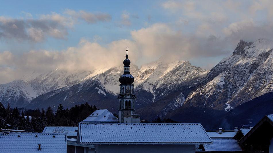 Mountain View Hello World Love Ggaßler Tirol  Photooftheday Austria Home Church Mountain Range Snowcapped Mountain Beauty In Nature