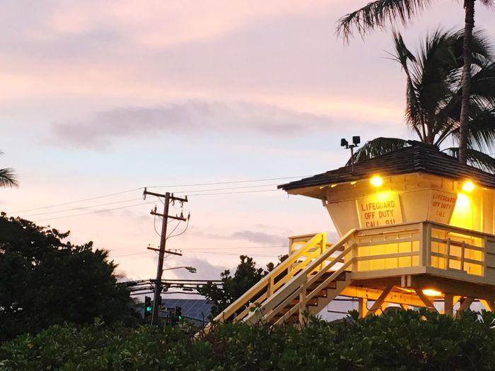 Maui life guards tower Architecture Nature Plant