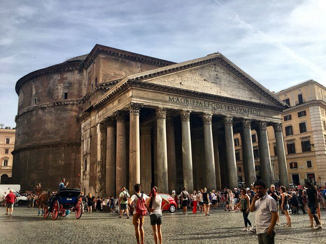 Large Group Of People Architecture Built Structure Building Exterior Travel Destinations Architectural Column Sky History Travel Tourism Real People Cloud - Sky Men Day Vacations Leisure Activity Outdoors Women Lifestyles Ancient Civilization Pantheon Your Ticket To Europe