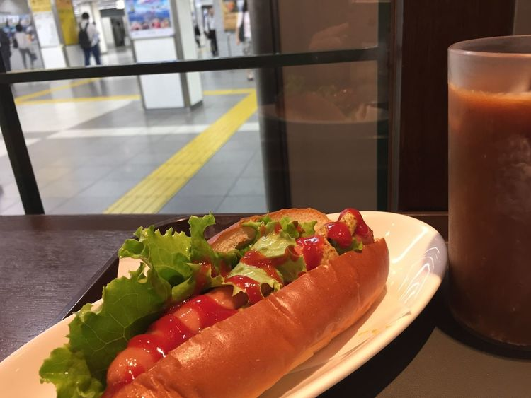 Food And Drink Food Freshness Ready-to-eat Table Healthy Eating Still Life Hot Dog Sausage Snack Drink