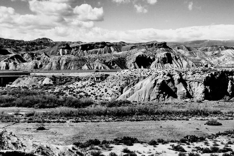 Geology SPAIN Almería Blackandwhite Monochrome Landscape Rocks Sky And Clouds Dessert Eye4photography