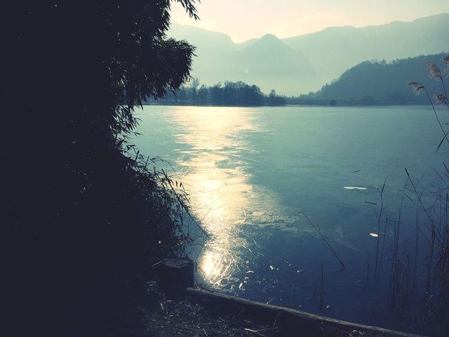 Lago di Levico ghiacciato Panoramic Landscape Taking Photos