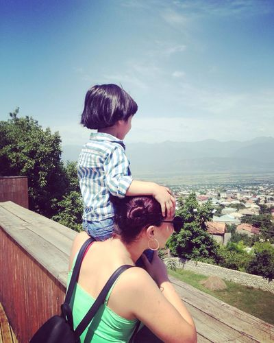 Me :)  Mybro  Nick Nickolas MyBoy Kakheti Telavi Nadikvari Mountains Playing View Amazing View Landscape Green Blue Sky Daytime Phonecamera Summer Summertime IMography Colour Of Life EyeEmNowHere EyeEmNewHere