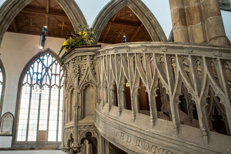 Pulpit in Church Hull Ancient Church Arch Architectural Column Architecture Building Exterior Built Structure Indoor Old Place Of Worship Pulpit Religion Spirituality The Past