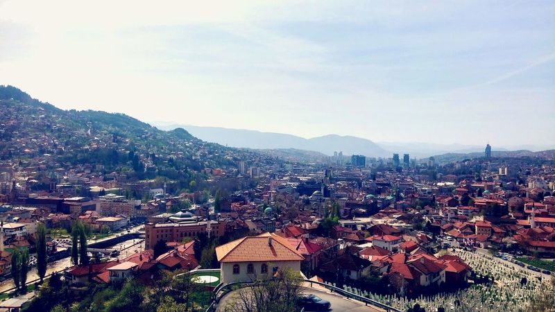 Showcase April Spring Wide Angle Cityscspe Sarajevo Viewpoint Beautiful City Bosnia Europe World Art Photography SHOUT ME OUT Make Me Famous SUPPORT Mobile Photography LG G3 Spring Warm Day