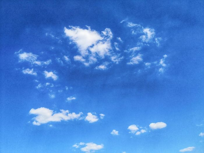 Summertime Sunday Blue Sky
