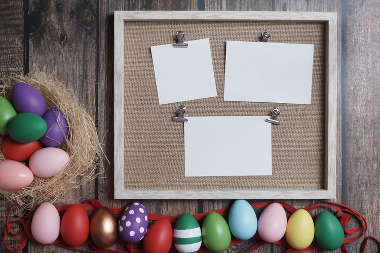 Flat-lay Easter