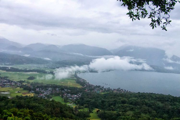 Danau Singkarak Cloud - Sky Fog Social Issues Nature Business Finance And Industry Landscape Outdoors No People Agriculture Tree Sea Scenics Water Sky Day City Mountain Beauty In Nature