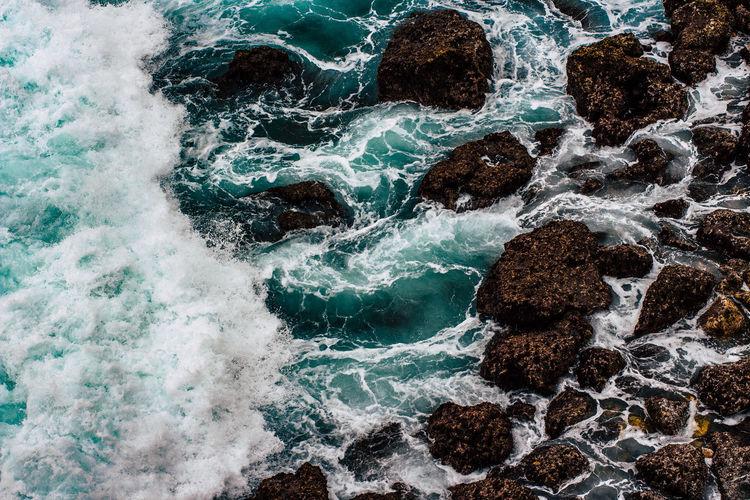 Full frame shot of rocks on beach