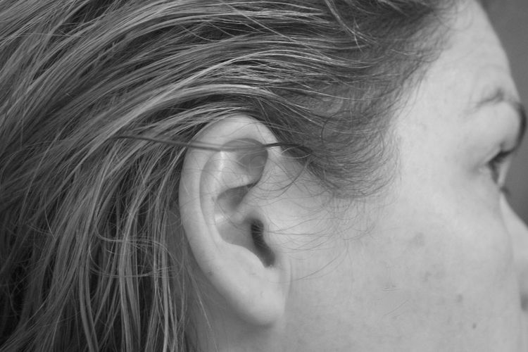 Close-up of woman ear