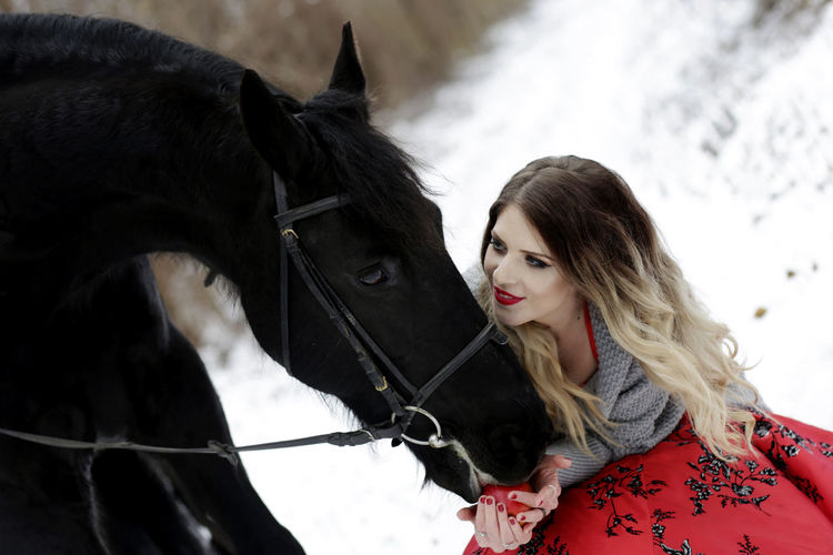 Animal Themes Beauty In Nature Day Horse Horseback Riding Leisure Activity Lifestyles Model Nature One Animal One Person Outdoors People Young Adult Young Women