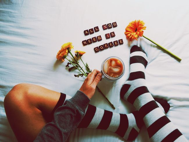 Coffee Coffee Time Coffee Break Coffeetime Coffee At Home Iced Icedcoffee Words Words Of Wisdom... True Words Girly Girl Woman Drinking Drinks Drink Morning Good Morning Morning Rituals Good Morning! Good Morning World! Showcase: December Bed Bedroom Love