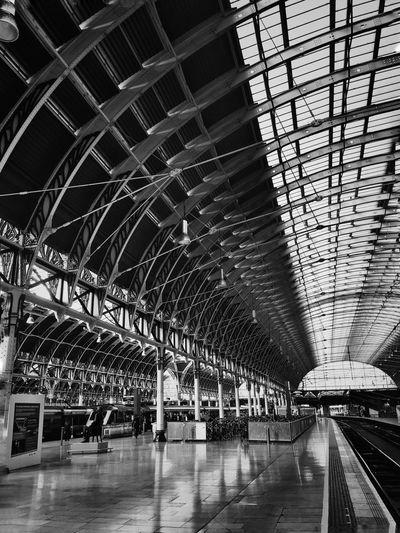 Paddington Station London Architecture Railroad Station Travel Ceiling Public Transportation Transportation Built Structure Trains And Station Bahnhof