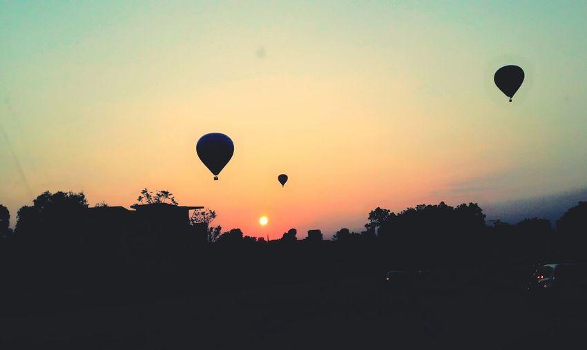 Hot Air Balloon Mid-air Sunrise Moments Are Beautiful