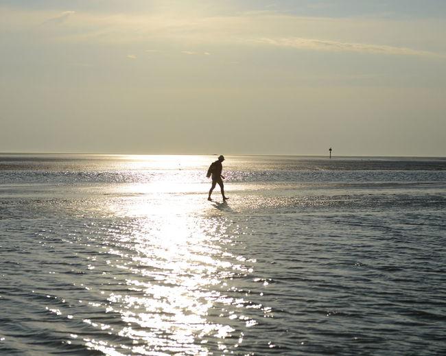 Tourist in sea