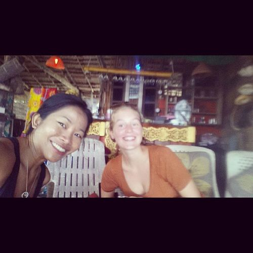 Meet Mara from Berlin. We are chilling at my favorite bar, Leon at Ao Nang, that serves the best Green coconut Curry in town.Hands down.