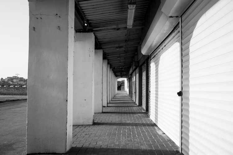 Porthcawl South Wales Architecture Beach Building Black And White Built Structure Concrete Converging Lines Day Indoors  Monochrome Photooftheday Real People The Way Forward