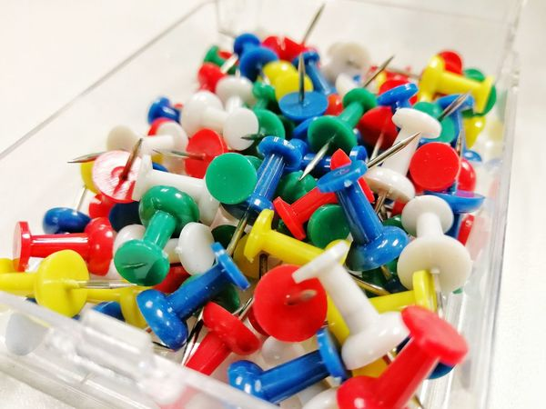 Multi Colored Food Indoors  Close-up No People Ready-to-eat Day Freshness Push Pins