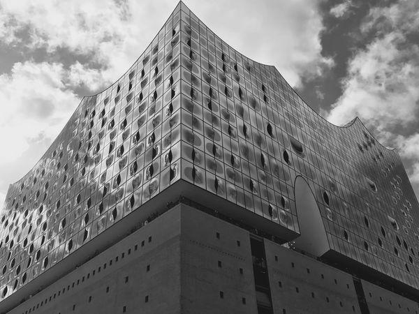 Black And White Elphi Elbphilharmonie Hamburg Blackandwhite Black & White Blackandwhite Photography Black And White Photography Black&white Elbe Philharmonie Elphie Elbe River Elbphilharmony