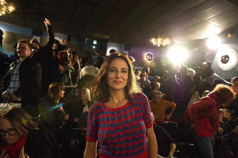 Italian moviestar. Night Large Group Of People Arts Culture And Entertainment Women Portrait Looking At Camera Event Real People Illuminated Young Adult Crowd Standing Lifestyles Film Premiere Photographing Young Women Audience Film Industry Indoors  Red Carpet Event