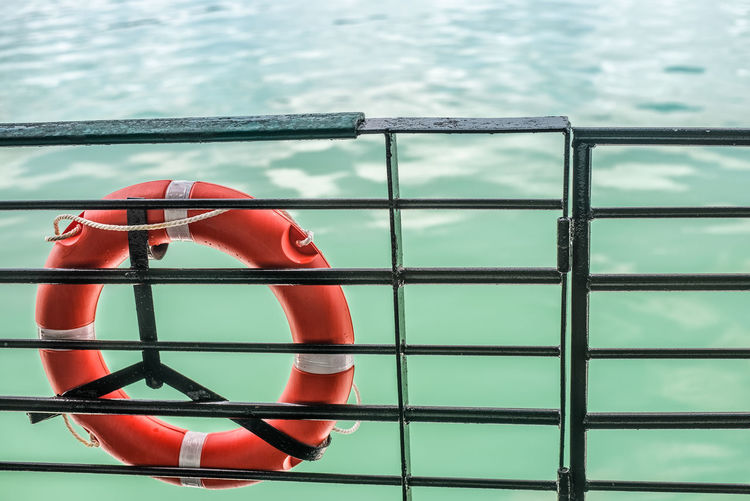 Water Life Belt Day Safety Security Protection Nature Tubing Railing Sea Red Tube Nautical Vessel Metal No People Rope Transportation Outdoors Shape Swimming Pool Floating On Water Travel Ferry Water Travel