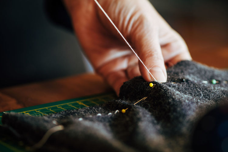 Sewing at home DIY Homemade Sewing Sewing Stuff The Week On EyeEm Adult Close-up Craftsperson Day Homework Human Body Part Human Hand Indoors  Men Occupation One Person People Real People Selective Focus Sewing Sewing Item Skill  Work Tool Working Workshop