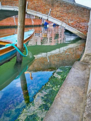 Venice Veneto Italy Travel Travel Photography Traveling Dream Destinations Mobile Photography Water Canals Rowing Boats Boat Poles Architecture Historical Buildings Bridges Steps Reflections And Shadows