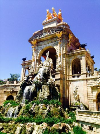 Barcelona Park Amazing Colourful Gold