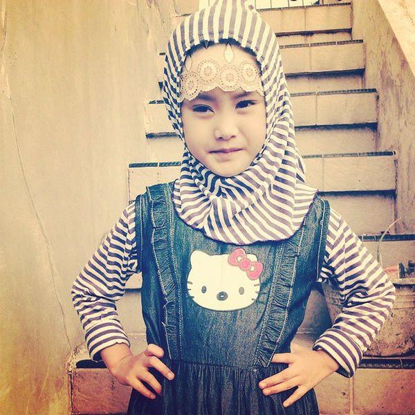 My angel ???? Mygurl Hijab Jilbab Cute fashion baby asiangirl love hellokitty muslim indonesia girl